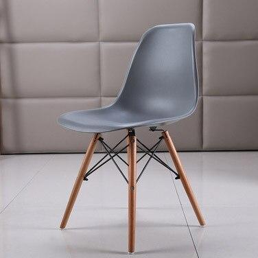 Полипропилен Дерево DIY обеденный стул современный дешевый обеденный бар встречи гостиная Кофейня бук деревянный стул Лофт стулья мебель для дома - Цвет: HH381300GR