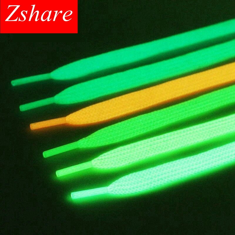 1pair Luminous Shoelaces Sneakers Flat Shoe Laces Flash Party Glowing Shoe Lace Kids Adult Fluorescent Shoelaces