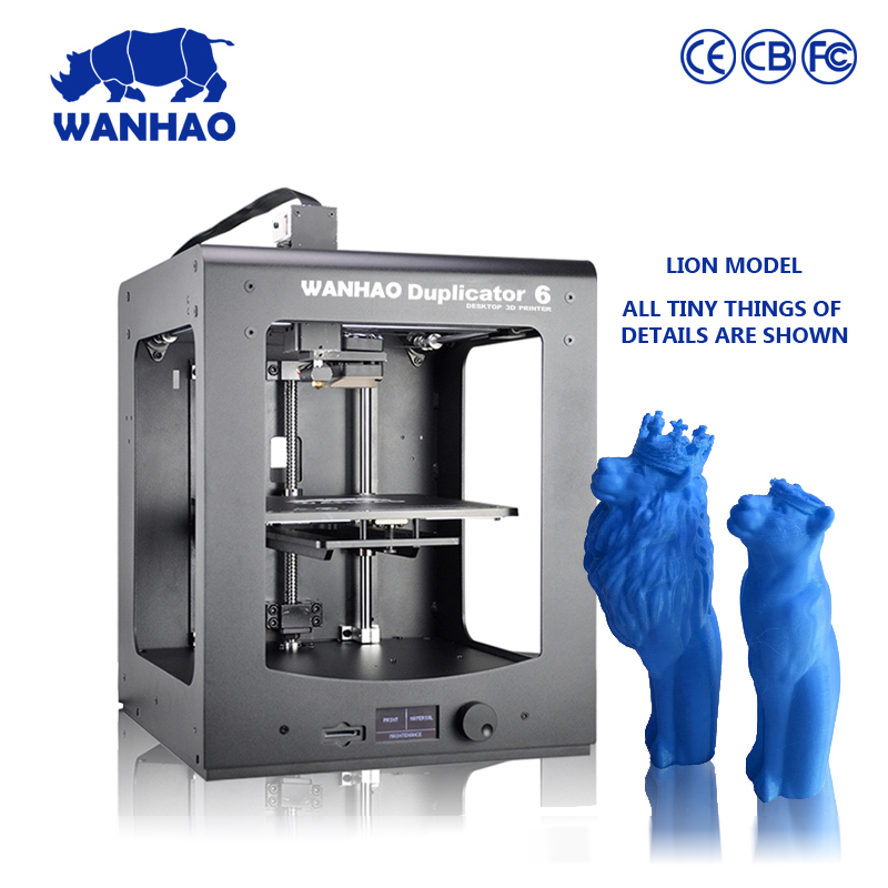 2016 new Dupalictor6 desktop 3d printer, LCD screen, smart & easy operation, with SD card and 1kg PLA filament free 3d printer image