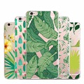 green tree Soft Silicone Case For iPhone 5 5s SE 6 6s 7 plus  TPU art print Crystal coque fundas print Crystal Cover For Apple