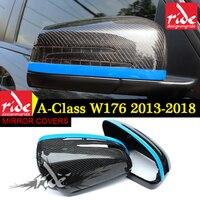 Mercedes углерода зеркало W176 A180 A200 A260 A45 AMG Mercedes Benz для класса A45 AMG углерода Зеркало Обложка 1 1 запасная 2013 +