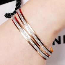 11.11 Hot New Fashion Metal Flash Bangles Bracelets Women Jewelry Double Gold Silver Bilezik Opening Gift Mujer Pulseras(China)