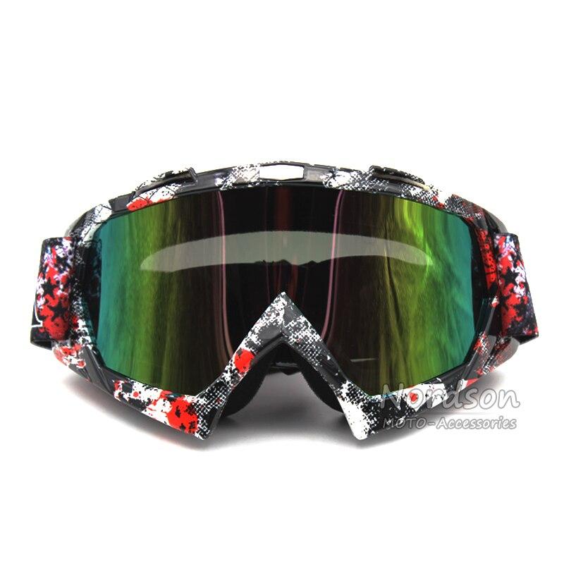 Man/Women Motorcycle Goggle Protective Sport Off Road Helmet Motocross Goggles Glasses for Motorbike Dirt Bike Color Lenses