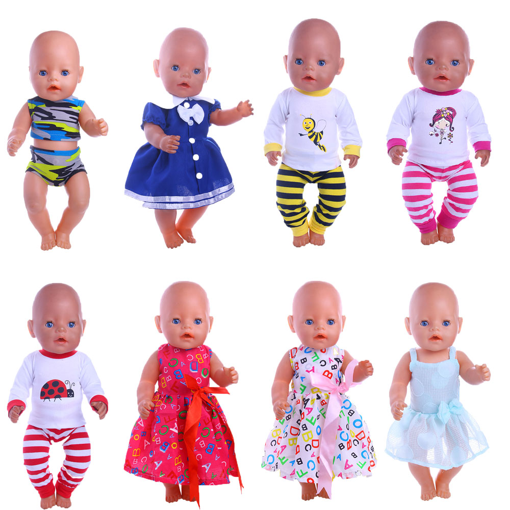 12style dress is suitable for 43cm Zapf baby born baby give children the best birthday present