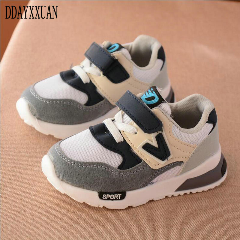 2019 New Spring Autumn Kids Casual Shoes Breathable Fashion Baby Toddlers Sport Shoes Comfortable Girls Boys Children Sneakers
