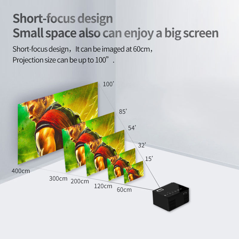 LED Mini Projector HD Portable HDMI USB AV Support Power Bank Charging For Home @JHLED Mini Projector HD Portable HDMI USB AV Support Power Bank Charging For Home @JH