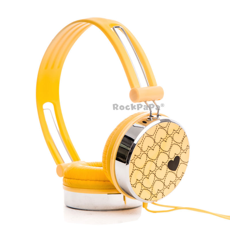 Cheap earbuds for girls - yellow headphones for girls