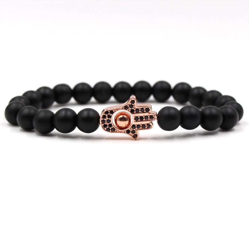 Palm Competitive Products 8mm Stone Statue Of Buddha Bracelet bracelets for women men jewelry feminina