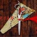 Быстрая доставка! Профессиональный ножницы 6 дюймов 440C бусины красный дракон ручка высокая - класс парикмахер парикмахерские ножницы