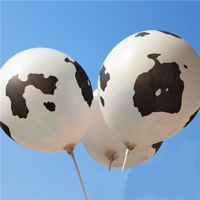 50pcs 12inch Cow printed balloon latex balloons globos Party decoration Birthday wedding Thicken Helium Farm Cow Animals Ballons