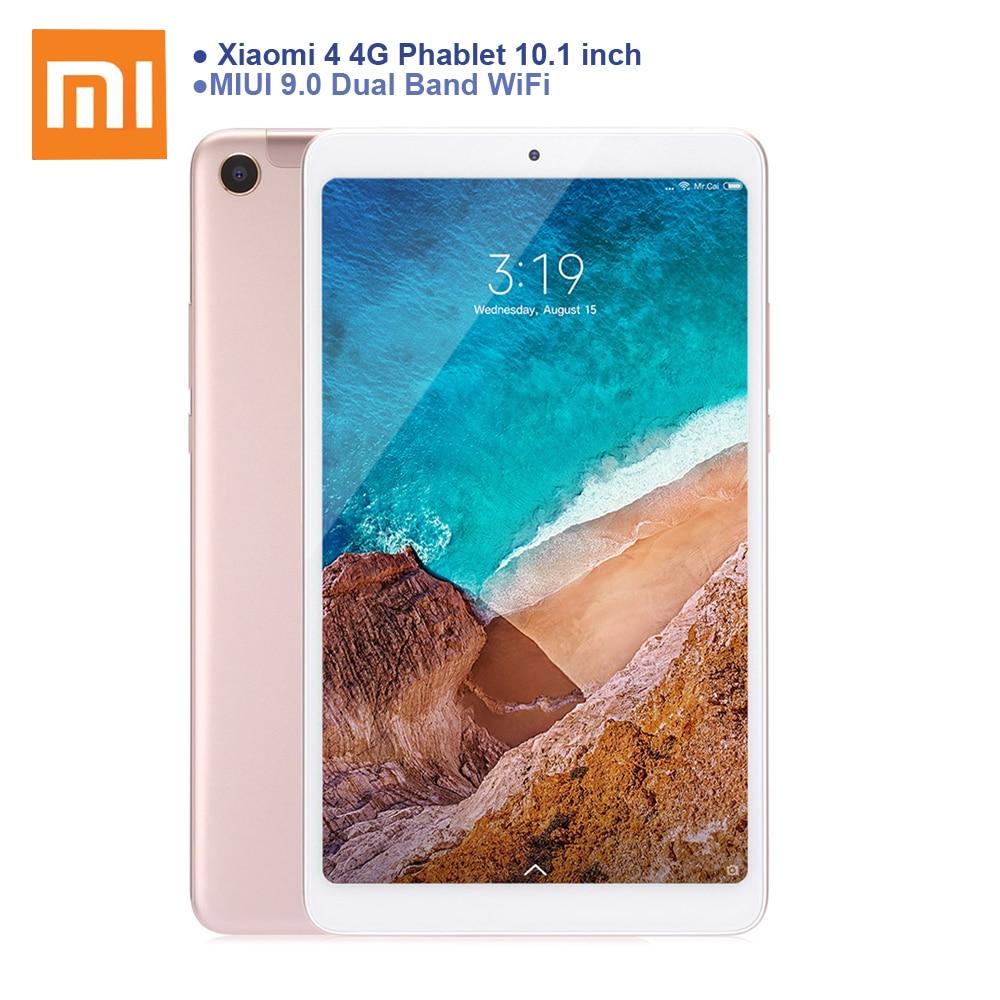 Xiao mi mi Pad 4 Plus 4G Phablet 10.1 mi UI 9 Snapdragon 660 4G 64G la Reconnaissance faciale 5MP 13MP Double Cam Double WiFi LTE Tablet PC