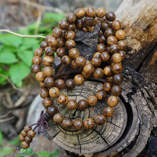 6mm 8mm 108 Natural Gray Stripe Tiger Skin Sandalwood Loose Beads Japa Mala Bracelet Jewellry Findings