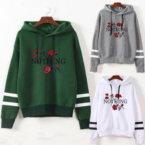 Men Women Long Sleeve Hoodie Sweatshirt Casual Hooded Coat Pullover Tops Ladies Warm Flower Warm Sweatshirts Clothing