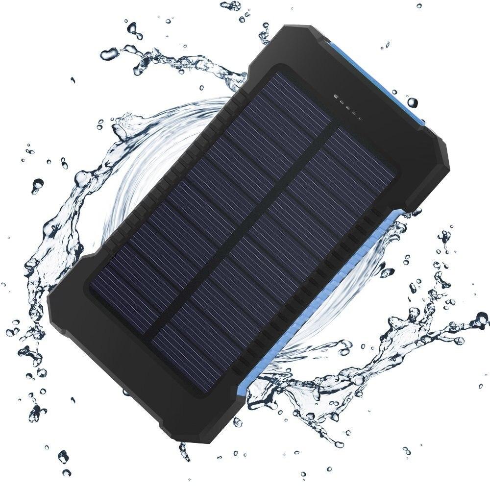 Cargador batería Externa Bateria portátil Bateria Externa doble USB 10000 mAh banco de energía Solar para teléfono inteligente