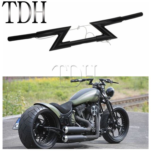"1"" 25mm Motorcycle Handlebar Z Bar Universal For Harley Custom Chopper Softail Dyna XL Sportster Nightster Honda Yamaha Suzuki"