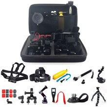 SHOOT Action Camera Accessories head chest strap tripod mount for GoPro Hero 5 4 3 SJCAM SJ4000 Xiaomi Yi 4K h9 Action Camera