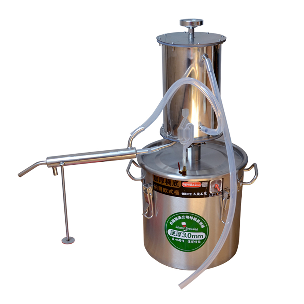 Moonshine Still Water Alcohol Distiller Home Brew Wine Making Kit Oil Boiler with Thermometer