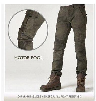 uglybros MOTORPOOL UBS06 army green slacks motorcycle font b jeans b font loose version