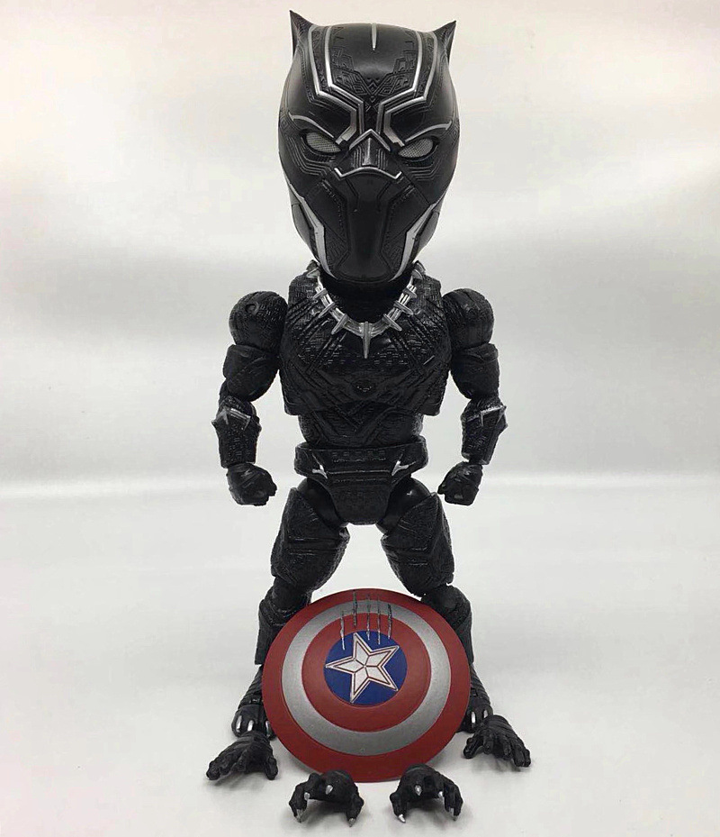Justice League Avengers Variable Egg Black Panther Cute Q 18cm Action Figure Attack Captain America Civil War Doll Toy