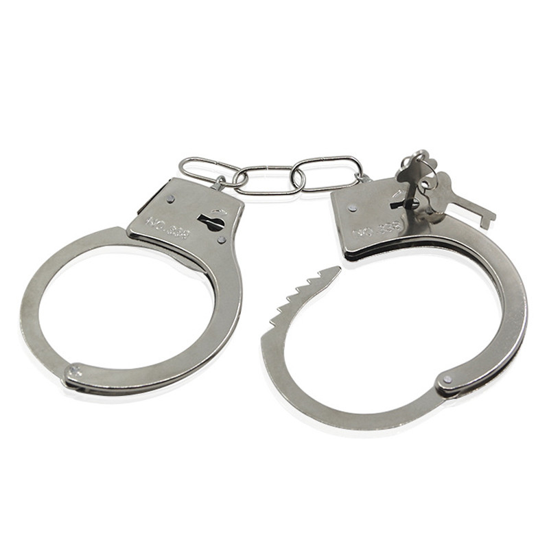Pretend Play  Police Toy With Keys Metal Handcuffs Cosplay Tools Toys For Children Boys
