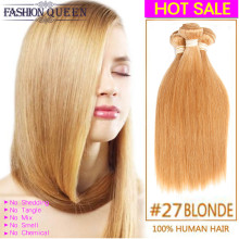 Rosa #27 Mink Brazilian Straight Hair 3pcs Double Machine Strong Wefts Ombre Hair Weaving Very Soft Healthy Sexy Formula Hair