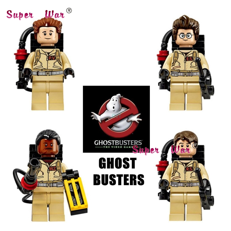 40pcs GhostBusters Building Blocks Raymond Stantz Peter Venkman Building Blocks action model bricks toys for children