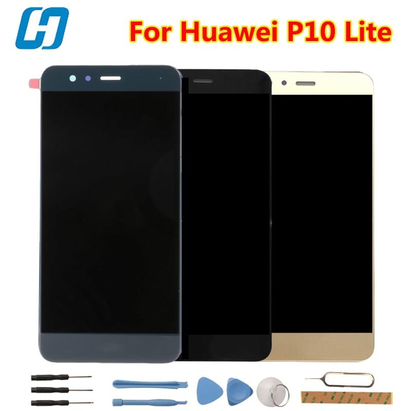 Huawei P10 Lite LCD Display + Écran Tactile Nouveau Digitizer Écran Panneau de Verre de Remplacement Pour Huawei P10 Lite WAS-LX2J/LX2/LX1A