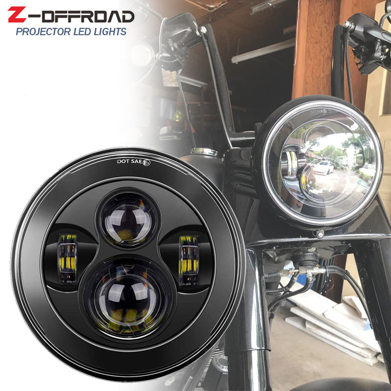 Responsible Motorcycle Accessories 7 Inch Motor Led Headlight With 7 Mounting Ring For Harley Davidson Tour Tri Glide Electra Glide Latest Fashion Home