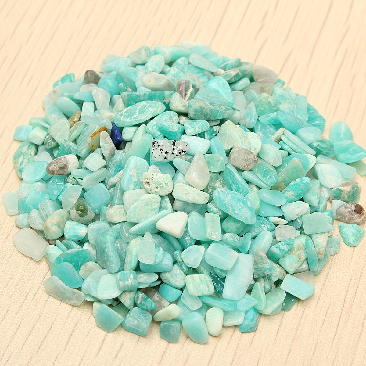 Garden Patio Natural Blue-green Amazonite Stone 50g 4-6mm Crystal Rough Rock Mineral Specimen Stones Decoration Ornament