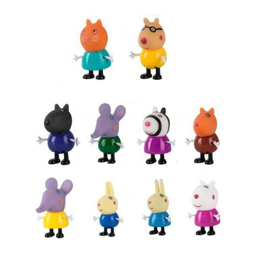 Hot Sell Original Peppa Pig Family George Dad Mom Grandma Grandpa  Action Figure Pelucia Toys For Children Gifts