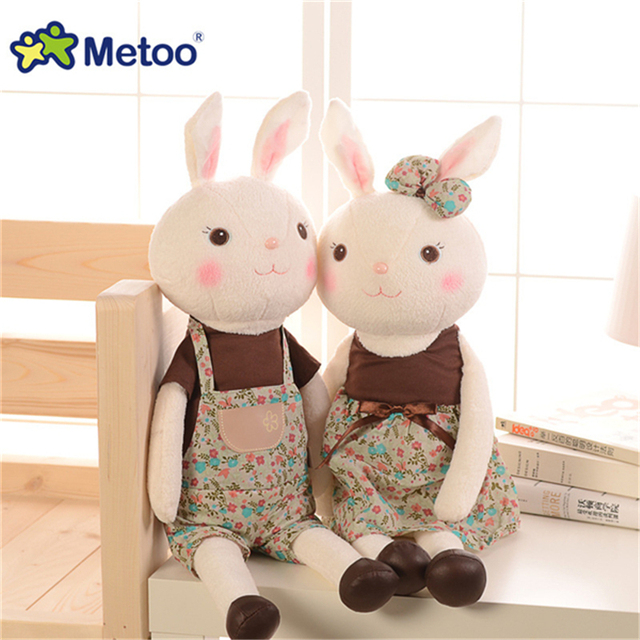1pcs Authentic 44cm Tiramisu Rabbit Metoo Plush Toy Doll Stuffed Bunny Hug Doll Kids Gifts A49