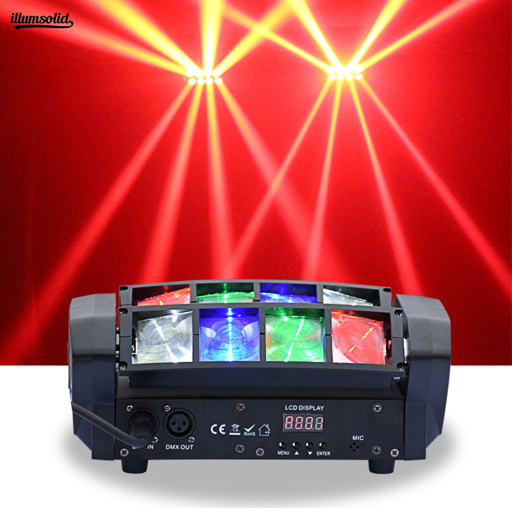 8X6W Mini Spider Moving Head Light RGBW Disco Effect Light DMX Stage Lighting Equipment8X6W Mini Spider Moving Head Light RGBW Disco Effect Light DMX Stage Lighting Equipment