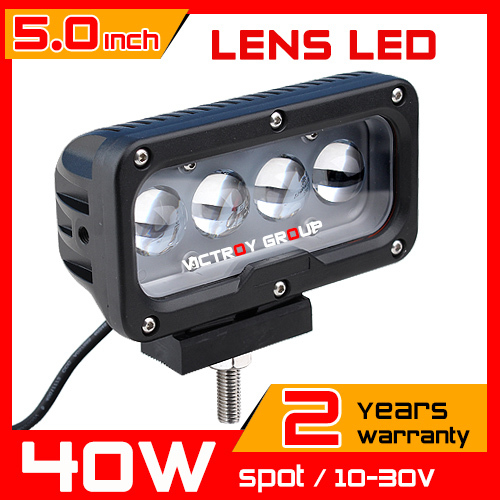 5 40w Led Work Light 12v Led Driving Light Lens Motorcycle Boat ATV Truck 4x4 4WD Offroad Fog Lamp LED Worklight VS 60w 9 90w led work light 12v 24v led drive light spot combo led lens motorcycle boat atv 4wd offroad fog lamp led worklight vs 120w
