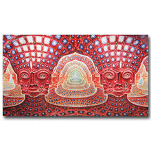 Alex Grey Trippy Psychedelic Art Silk Poster Print 13x24 24x43 inch Abstract Pictures for Living Room Wall Decoration 026(China)