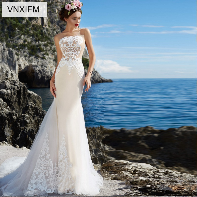 Buy Used Wedding Gowns: Aliexpress.com : Buy VNXIFM 2019 Romantic Lace Tulle