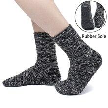 Rubber Sole Non-slip Cotton Socks Women Anti Slip Home Floor Socks Slippers Casual Indoor Warm Winter Socks Sport Soft Hosiery