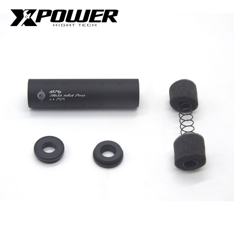 XPOWER AEG Airsoft Silencer Accessories Universal Common Aluminum For Air Guns CS Sports