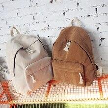 Сумка женский досуг холст вельвет рюкзак большой емкости студент колледжа мешок