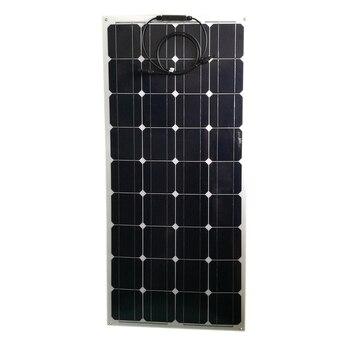 Flexible Solar Panel Roof 100w 18v 4 Pcs Solar Battery Charger 12v Solar Modules 400 watt 48 volt  Boat Caravan Car Camping RV