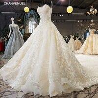 LS74521 свадебные платья шикарныероскошные свадебные платья без бретелек без рукавов зашнуровать обратно спиной мяч платье бисером свадебные