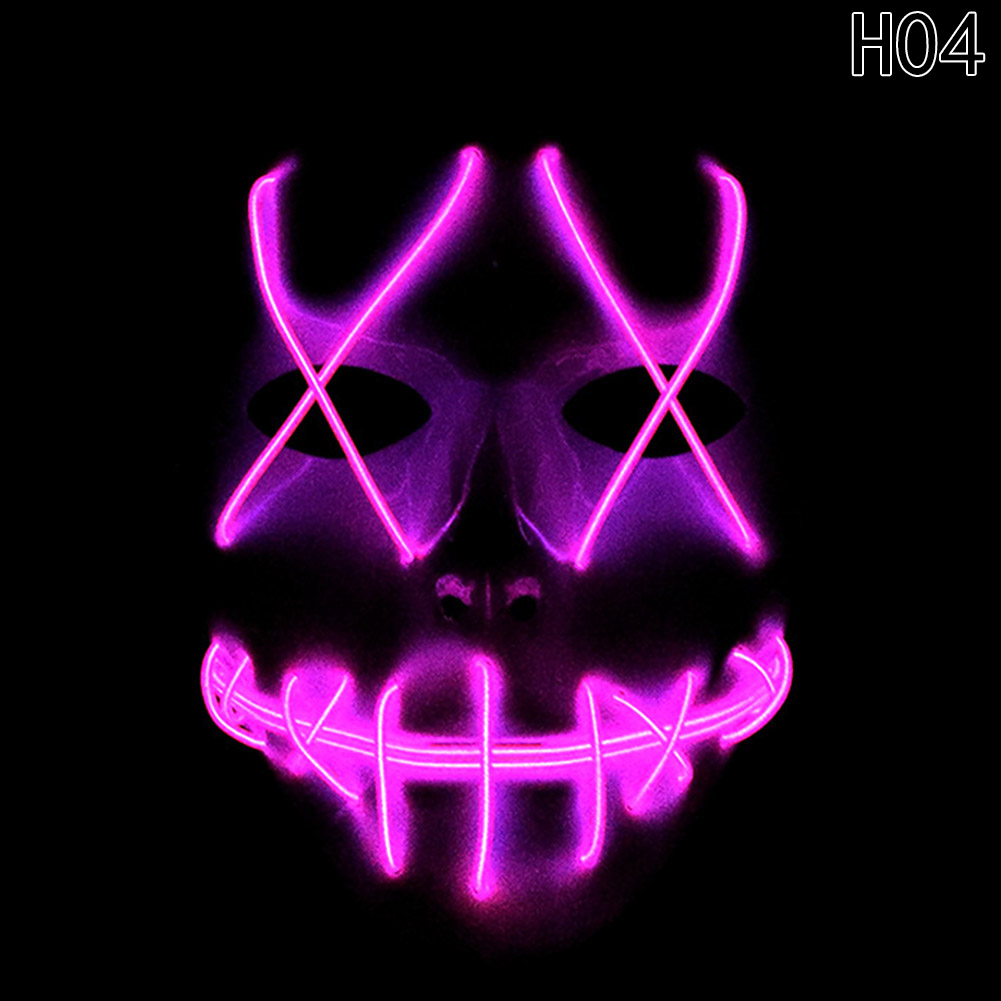 HTB1wSpWayERMeJjy0Fcq6A7opXaE - 1 Piece Halloween ghost Slit mouth light up glowing LED Mask Costume PTC 259