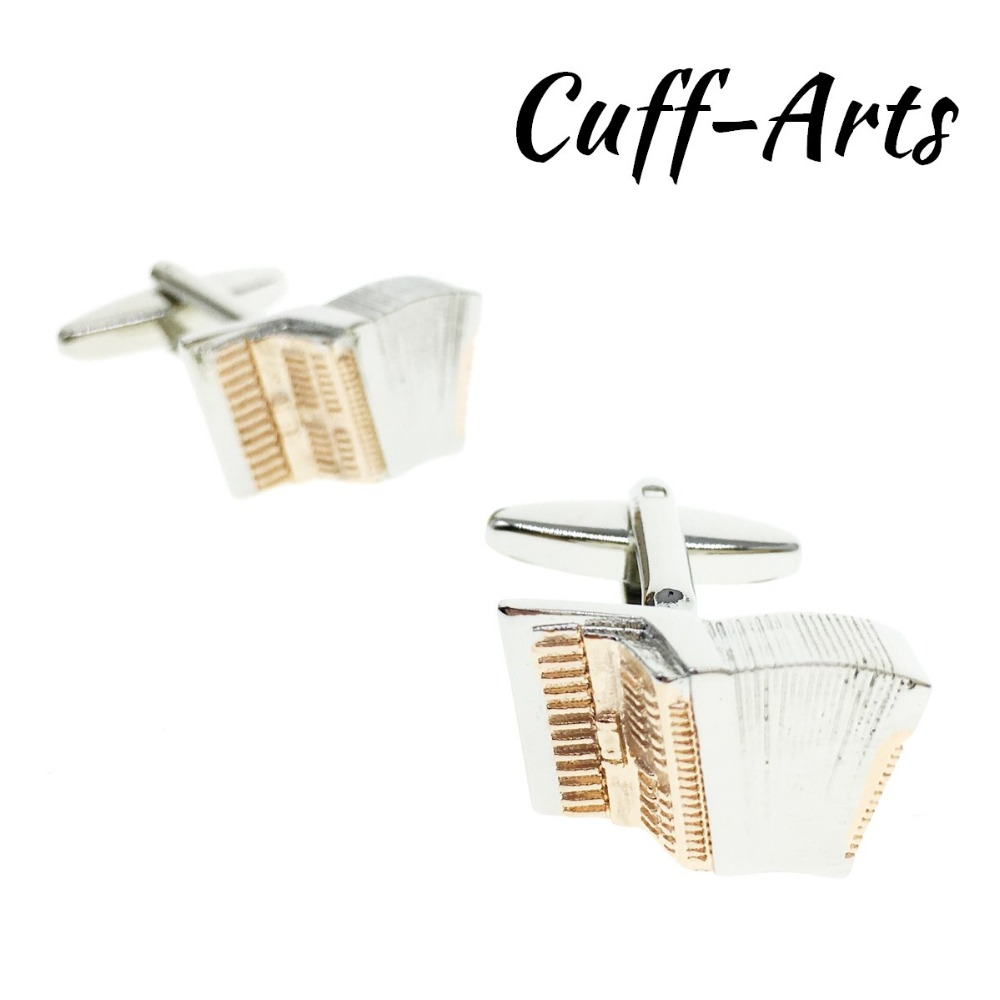 Cuffarts Acordian Music Instrument Cufflinks 2018 New Style Rose Gold Shirt CuffLinks Jewelry Gifts For Men C10161