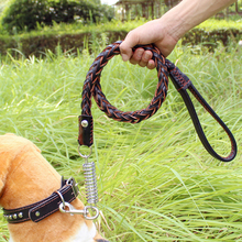 1 pcs Pets Dogs Adjustable Traction Rope dog Collars Basic Leash Set  Leather Large Medium Leashes set dogs accessories