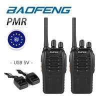 2 stücke Baofeng BF-88E PMR 446 MHz 0,5 W UHF 16CH Protable Schwarz Walkie Talkie Handheld Ham Zwei-weg radio USB Ladegerät BF-888S 888 S