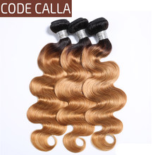 Code Calla Malaysian Body Wave 34 Bundles 100% Unprocessed Raw Virgin Human Hair Bundles Extensions T1B Brown Blonde Ombre Color(China)