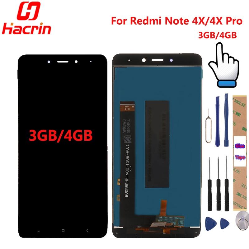 Xiaomi Redmi Hinweis 4X LCD Display + Touch Screen Digitizer Ersatz Test-Gute Für Xiaomi Redmi Hinweis 4X Pro 5,5