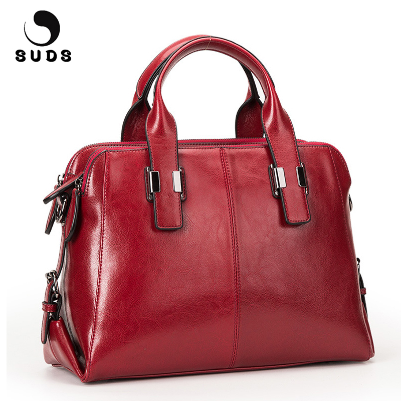 SUDS Brand Genuine Leather Bag Women Large Handbag Shoulder Bags Large Capacity Women Messenger Bags High Quality Bolsa Feminina handbag shengdilu brand new 2018 women genuine leather high end tote shoulder messenger bag free shipping bolsa feminina