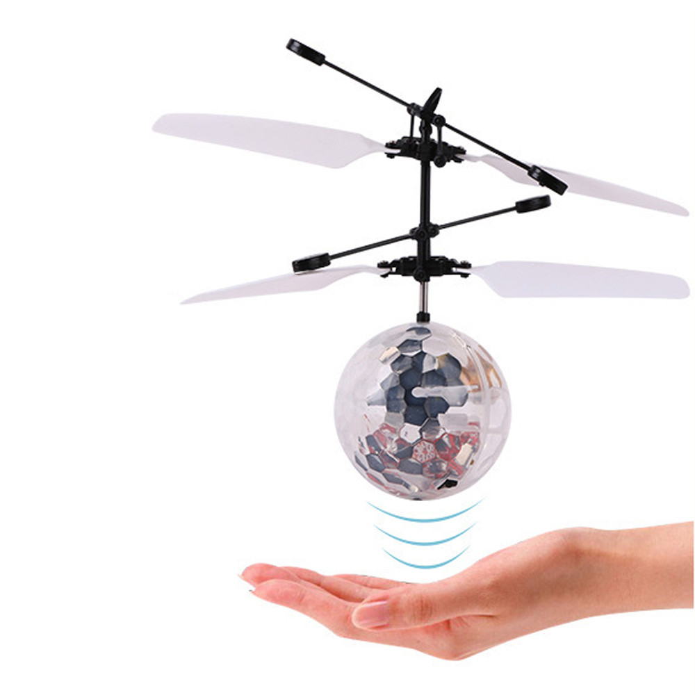RC Toy EpochAir RC Flying Ball RC Drone Helicopter Ball Built-in Shinning LED Lighting for Kids Teenagers Colorful Flyings