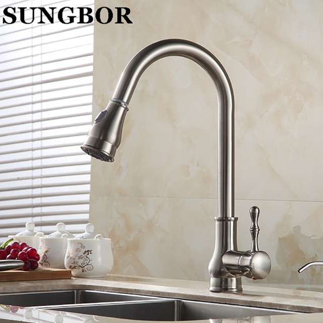 Free Shipping Kitchen Faucet Chrome Or Brushed Nickel Or Oil Rubbed