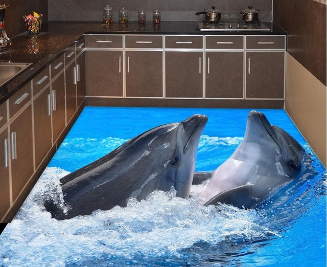 Wohnkultur Dolphin 3d Videos Geschrieben Boden Bad Wasserdicht